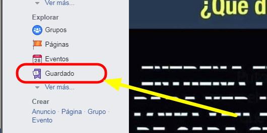 contenido guardado en facebook