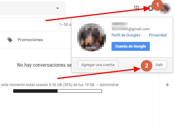 Cerrar sesion en google tutorial