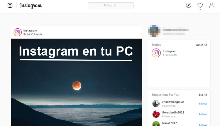 Instagram en tu PC tutorial