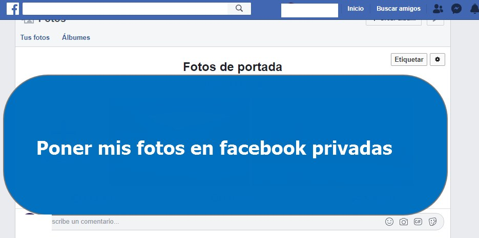 Tutorial fotos facebook privadas