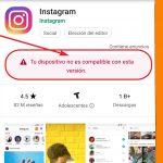 Tu dispositivo no es compatible con esta versión de Instagram (Solución)