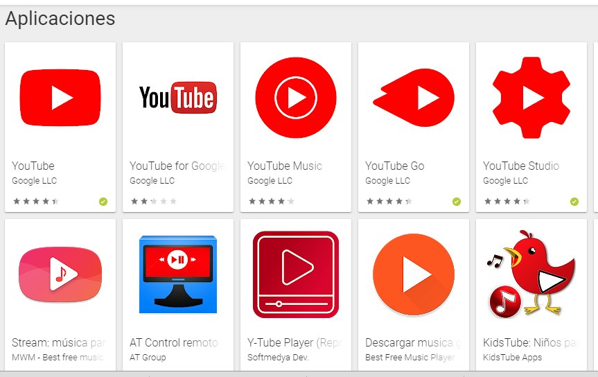 apps similares a youtube play store