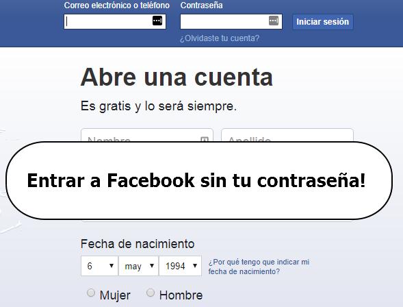 entrar a facebook sin la contraseña