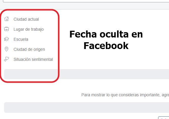 fecha oculta facebook como hacerlo
