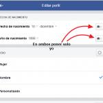 ocultar fecha nacimiento facebook tutorial