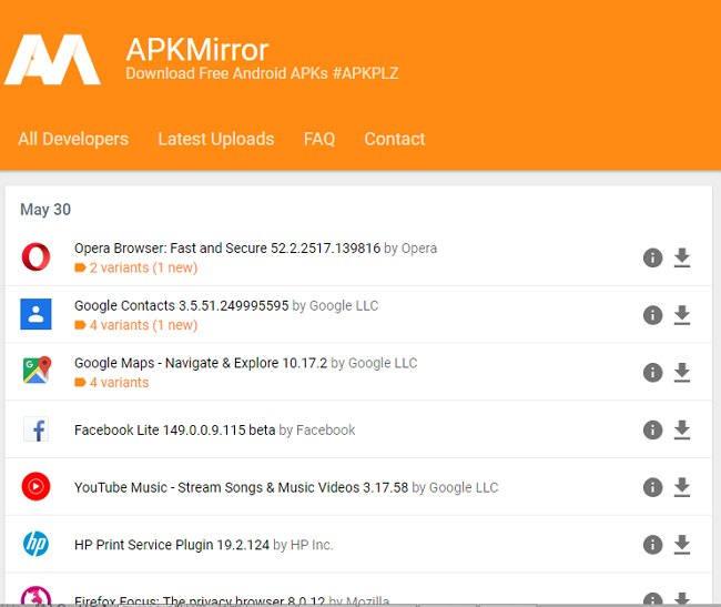 sitios donde descargar apks para android