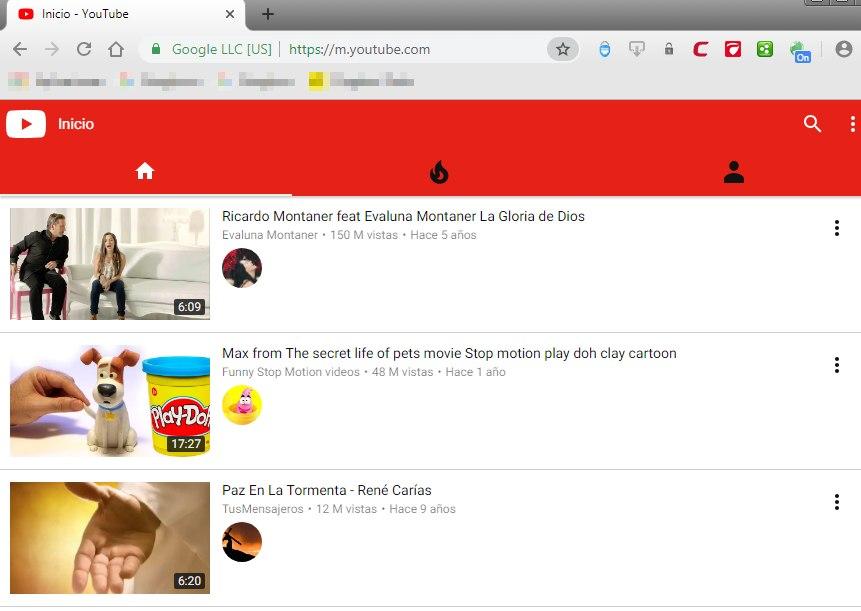 ver youtube sin la app en android