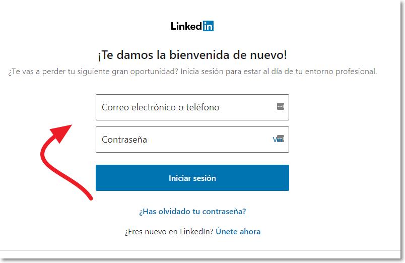 Entrar en Linkedin tutorial