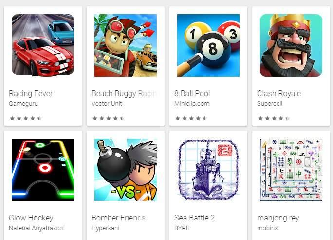 juegos multijugador android