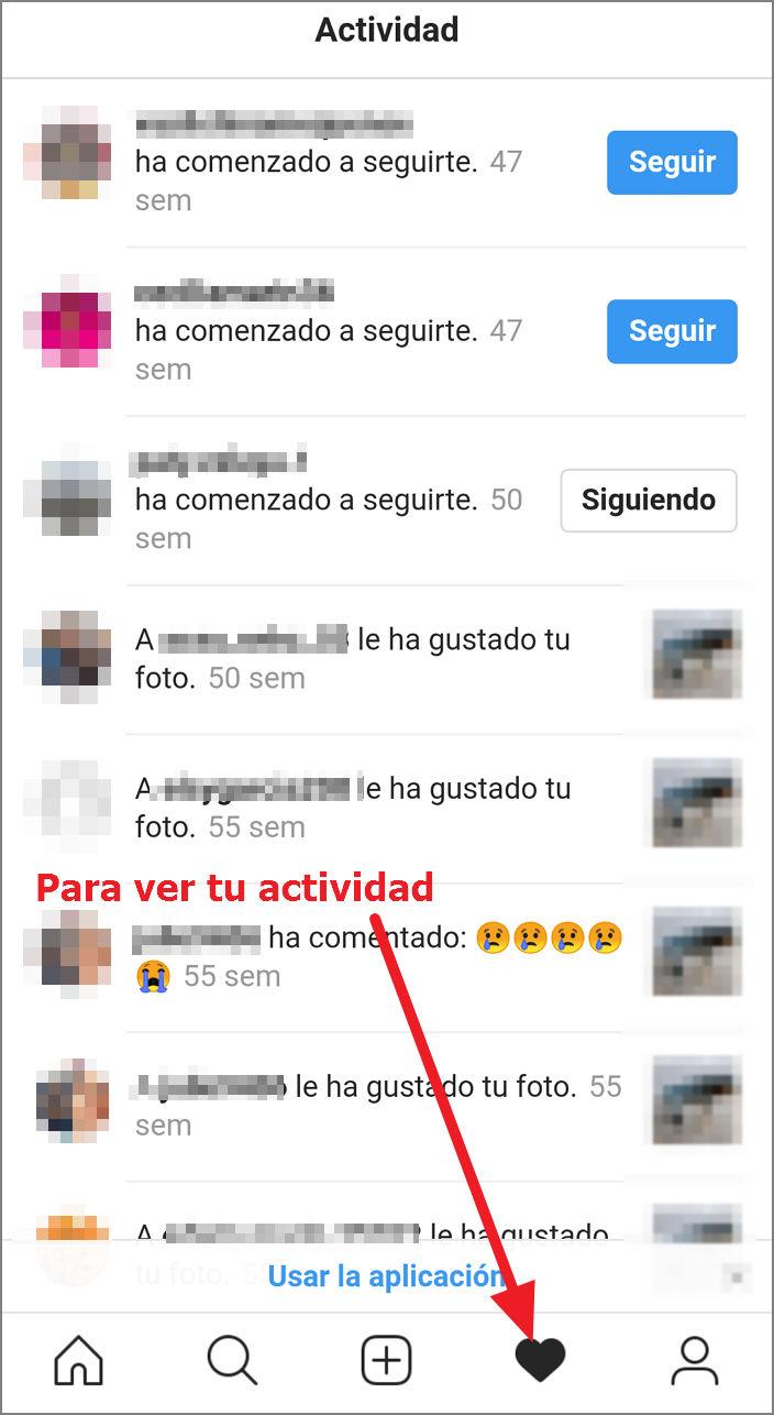 saber si han visitado mi perfil de instagram