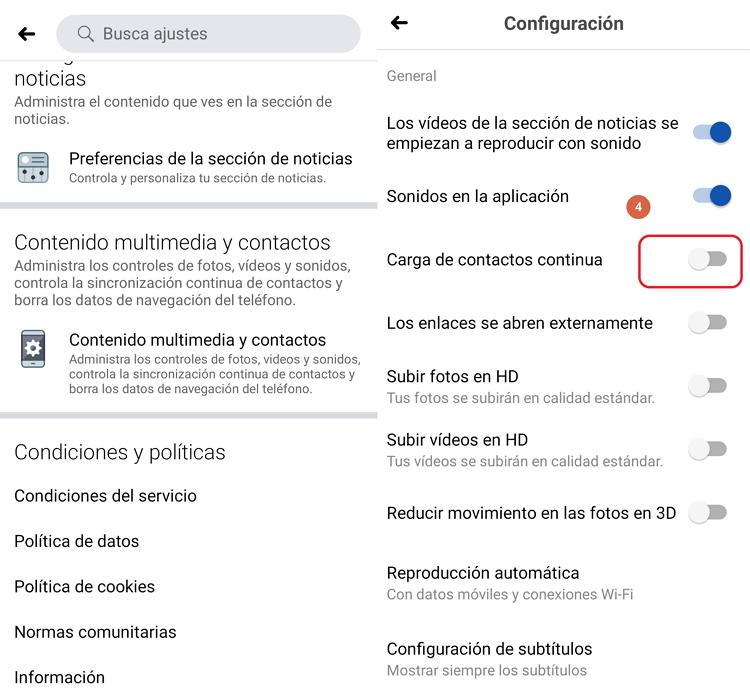 tutorial no sincronizar contactos en messenger