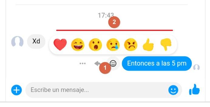 Reacciones en messenger tutorial