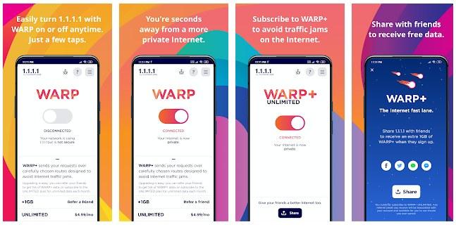 warp vpn descargar gratis