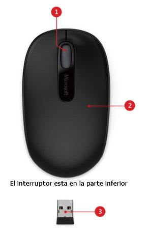 Mouse inalámbrico Microsoft 1850 como apagar la luz