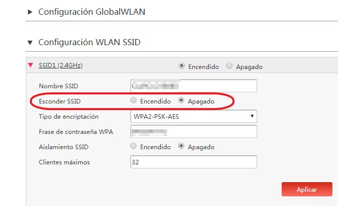 hidden SSID para que sirve